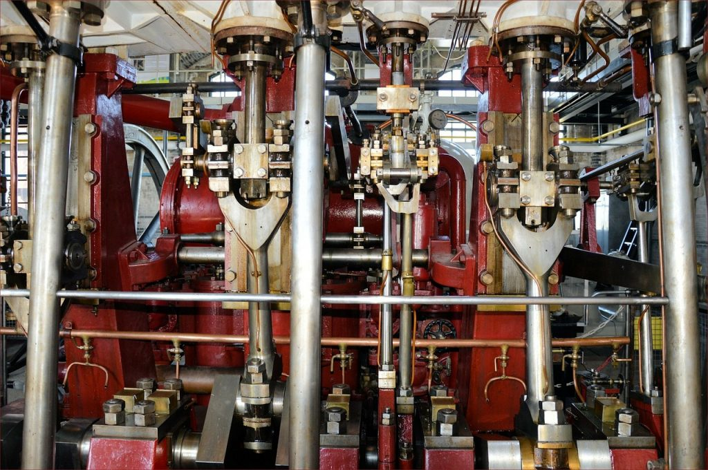 Equipement industriel dans une usine